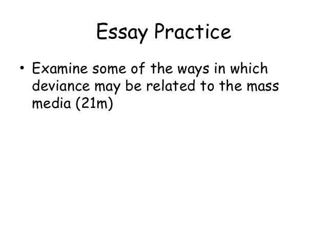 Mass Media's effects on what? I need an essay topic?