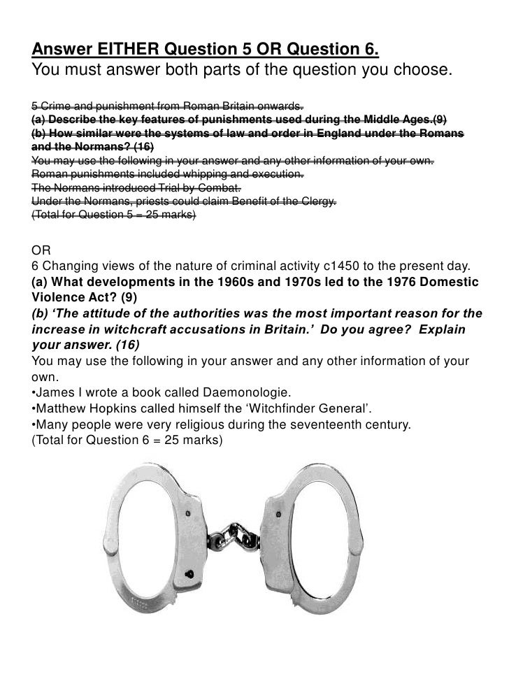 Crime Writing Essay Questions - image 3