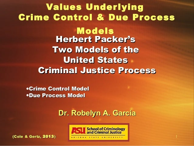 a comparison of crime control and due process Crime control and due process are two different ideal types of criminal justice one could say they are extremes on a continuum the role of crime control.