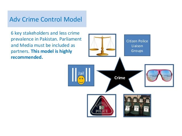 "crime control model The crime control model focuses on repression of crime in a speedy and conclusive way the use of ""presumptions of guilt"" speeds the process up because very little evidence is needed against the suspect for them to be considered guilty."