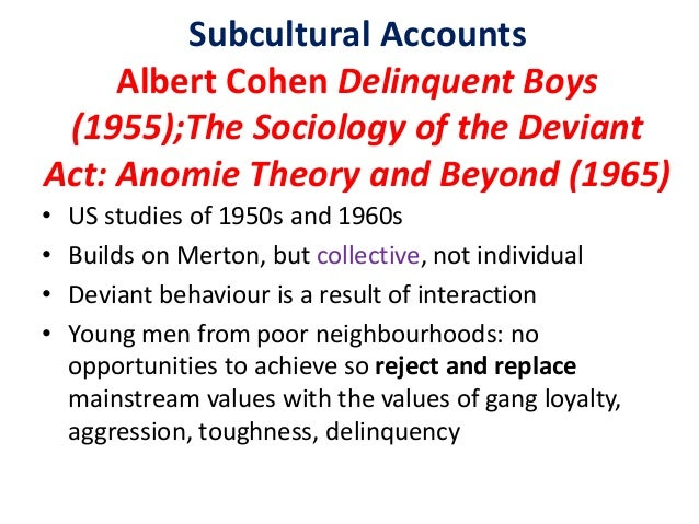 anomie and delinquency While durkheim did not focus on crime per se, his theoretical writings on anomie from the late 1800s have been particularly influential in shaping several criminological theories, including social control theory, social disorganization theory, and classic and contemporary anomie theories.