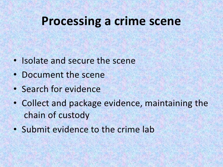 How to describe a crime scene?