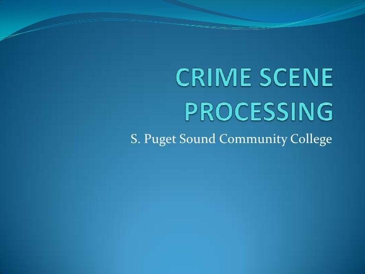 Crime Scene Processing Ol