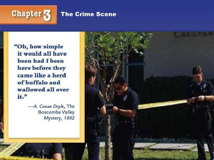 Crime scenes presentation