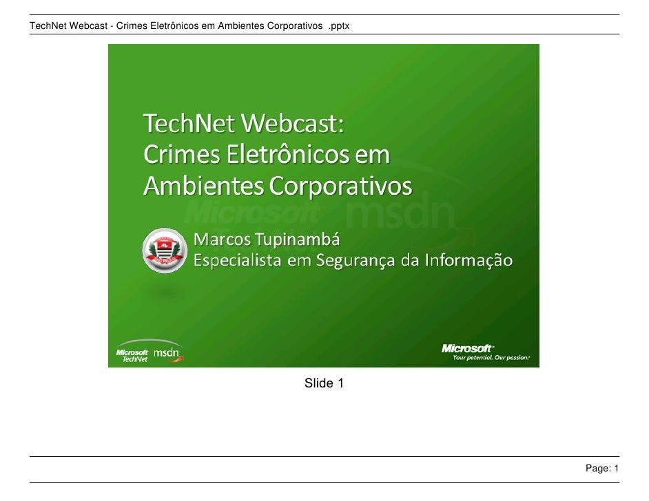 Crimes EletrôNicos Em Ambientes Corporativos
