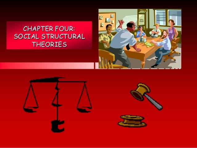 CHAPTER FOUR: SOCIAL STRUCTURAL THEORIES