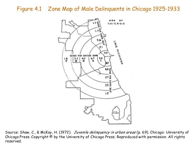 shaw and mckay theories Theories used social disorganization theories in the theory by shaw and mckay (1942), there are five different living zones in large cities or towns where people live each zone differs by characteristics of the community, people themselves, and every crime rates.