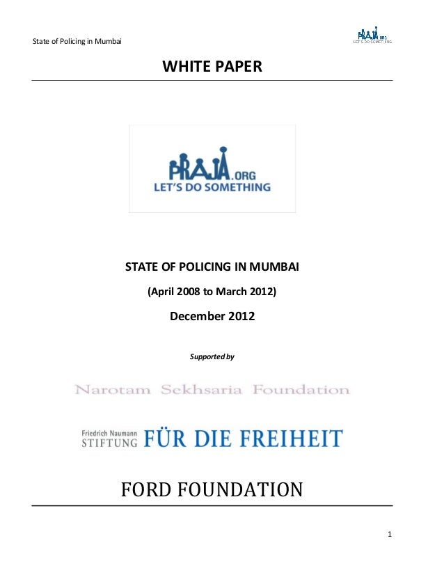 Crime White Paper
