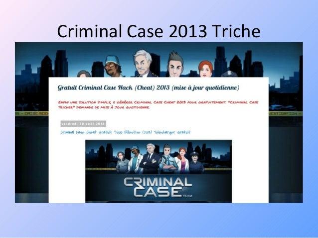 Criminal case hack tool 2013 gratuit télécharger no survey {gratuit}