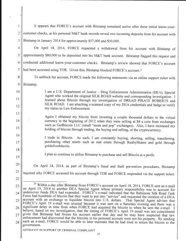 fbi vs silk road criminal complaint against feds