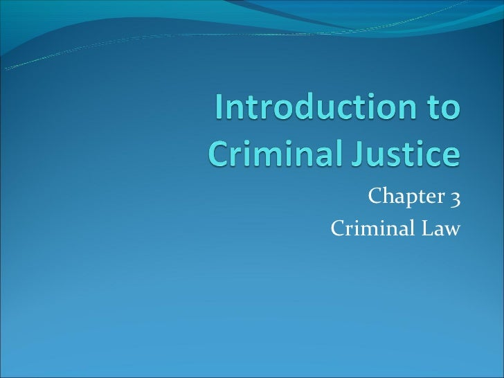 Chapter 3Criminal Law