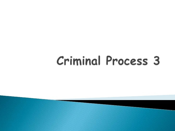 Criminal Process 3 - Role Of The Media