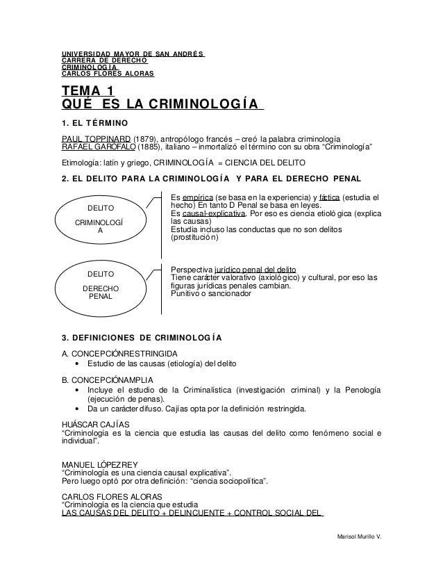 Criminología con Carlos Flores Aloras