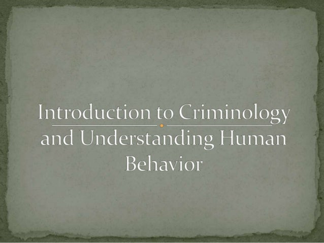 Criminology and Victimology