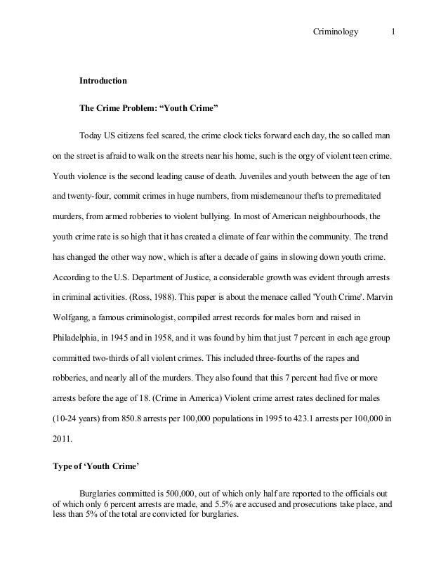 Criminology english essay free