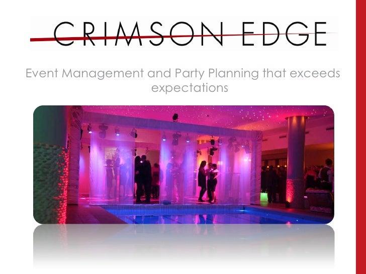 Crimson Edge Events Brochure