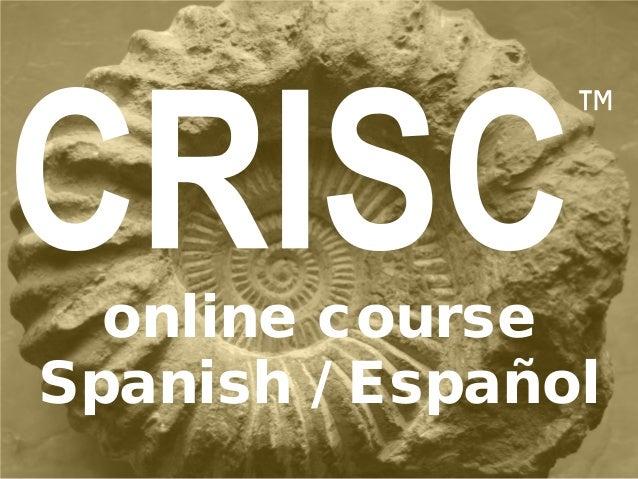 ™ online course Spanish / Español