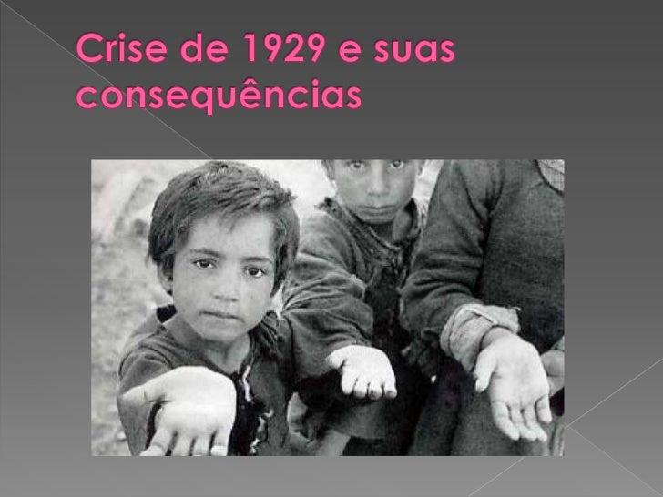 Crise de 1929 e suas consequências