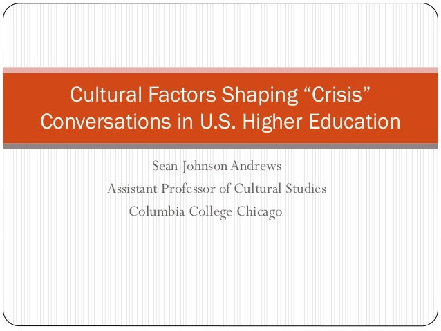 """NITLE Shared Academics: Cultural Factors Shaping """"Crisis"""" Conversation in Higher Education"""
