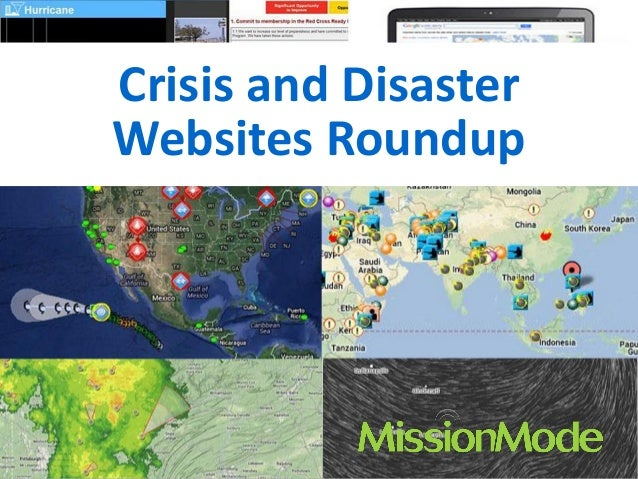 Crisis and Disaster Websites Roundup