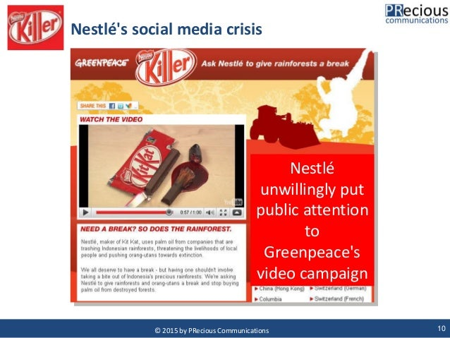 nestle social media crisis and solution Nestlé blasted for 'censoring' facebook comments doing so is not always the best solution especially during a crisis remember, social media is about.