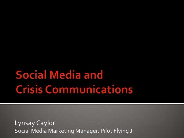 Lynsay CaylorSocial Media Marketing Manager, Pilot Flying J