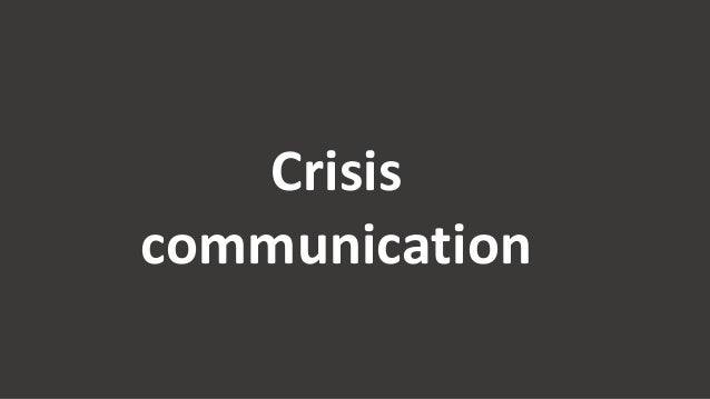 Crisis communication 9 tips
