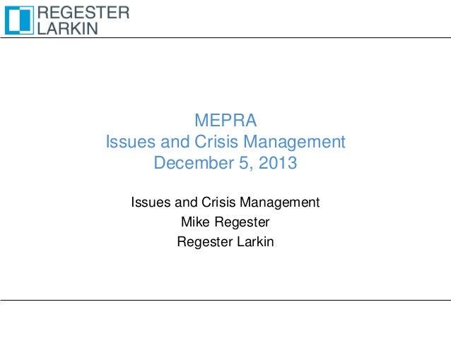 Crisis communications workshop - Abu Dhabi 05.12.13