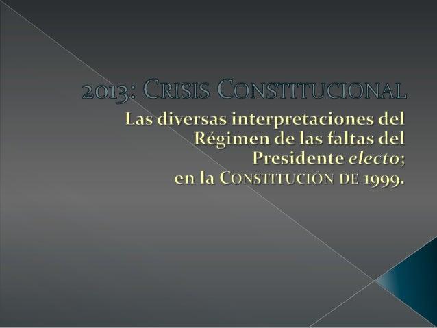 """Presentación """"Crisis Constitucional""""-Jesús Ortega Weffe"""