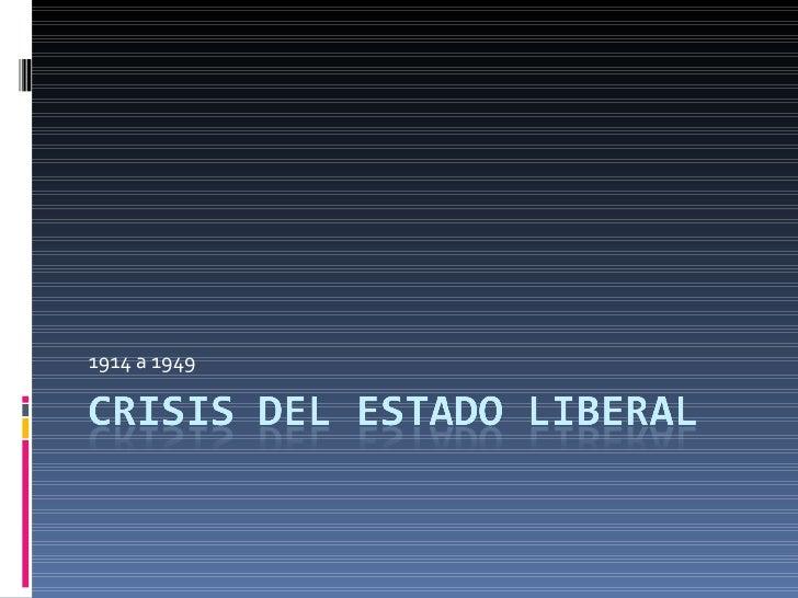 Crisis del estado liberal