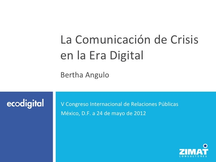 Crisis en la Era Digital por