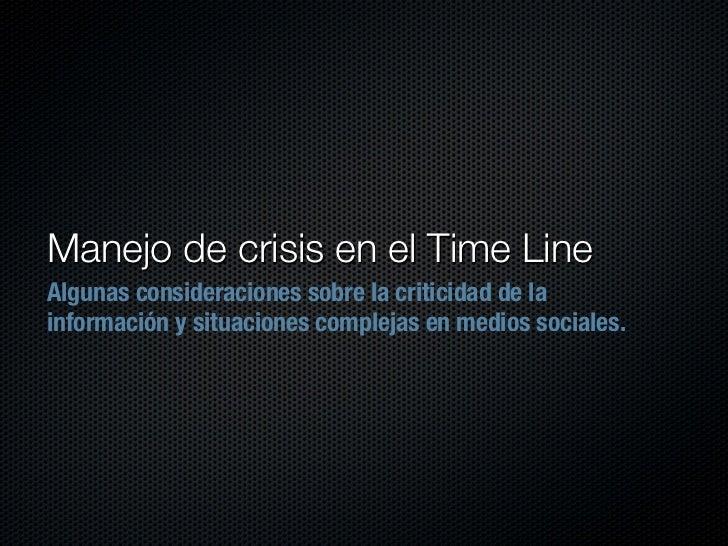 Manejo Crisis en Social Media