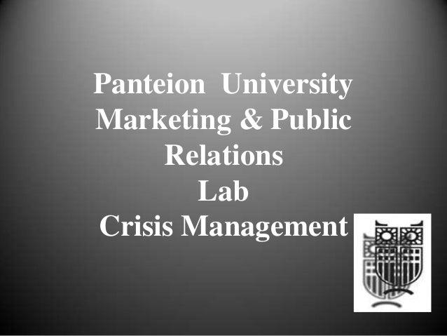 Panteion UniversityMarketing & PublicRelationsLabCrisis Management