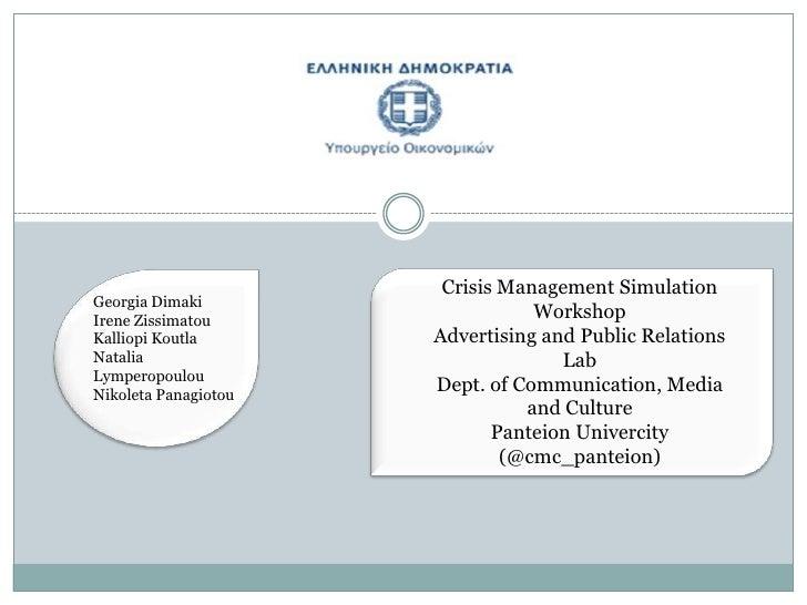 Crisis Management Workshop Presenation
