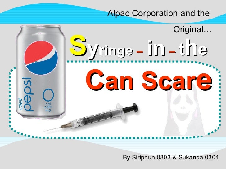 pepsico syringe case Pepsi was able to rebound from the hoax using an effective crisis public relations campaign  hi i'm doing a case study on the pepsi syringe crisis for.