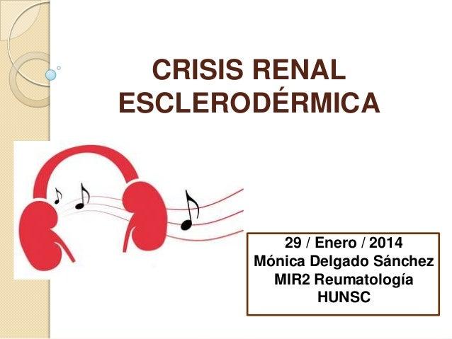 CRISIS RENAL ESCLERODÉRMICA  29 / Enero / 2014 Mónica Delgado Sánchez MIR2 Reumatología HUNSC