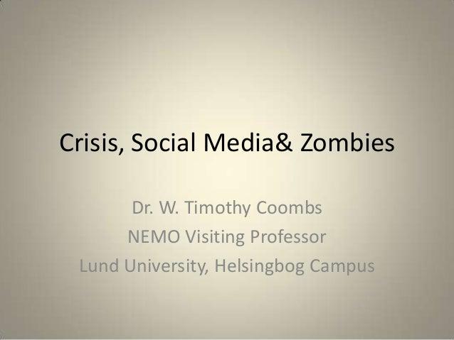 Social Media Crises & Zombies