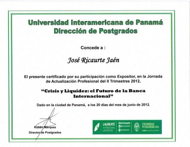 Crisis y liquidez el futuro de la banca internacional por Jose Ricaurte Jaen