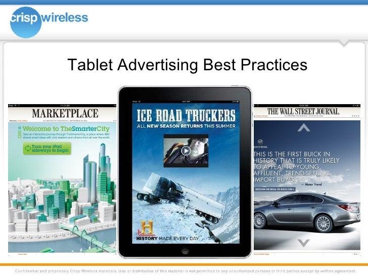 Tablet Advertising Best Practices