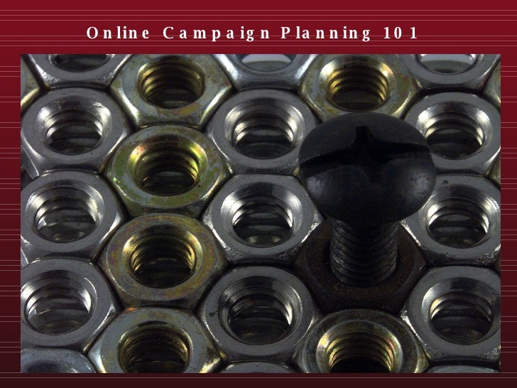Online Campaign Planning 101