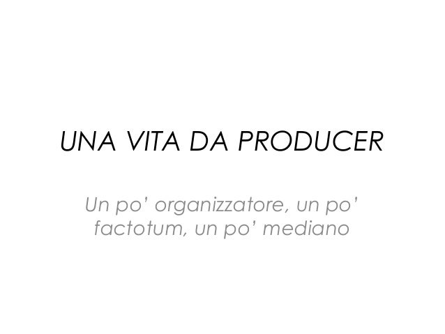 Una vita da Producer (Fabio Cristi)