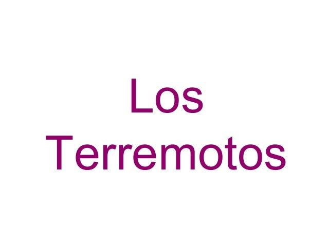C. DANIEL. TERREMOTOS