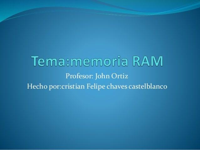 Profesor: John Ortiz Hecho por:cristian Felipe chaves castelblanco