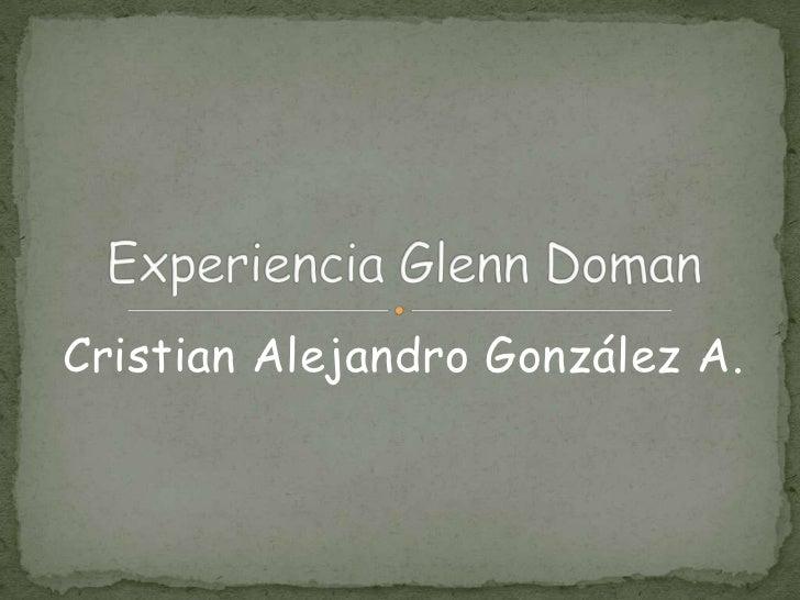 Cristian Alejandro González A.