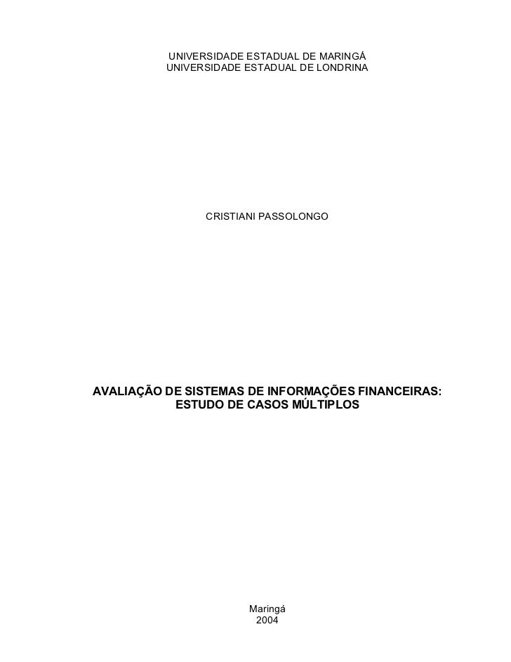 UNIVERSIDADE ESTADUAL DE MARINGÁ          UNIVERSIDADE ESTADUAL DE LONDRINA                CRISTIANI PASSOLONGOAVALIAÇÃO D...