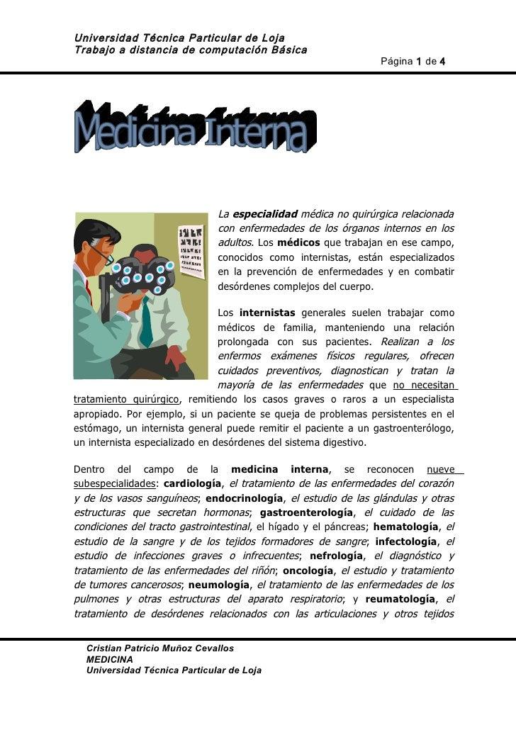 Universidad Técnica Particular de LojaTrabajo a distancia de computación Básica                                           ...