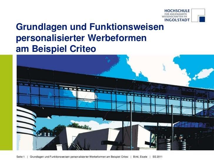 Criteo birkl eisele_2.5.2011