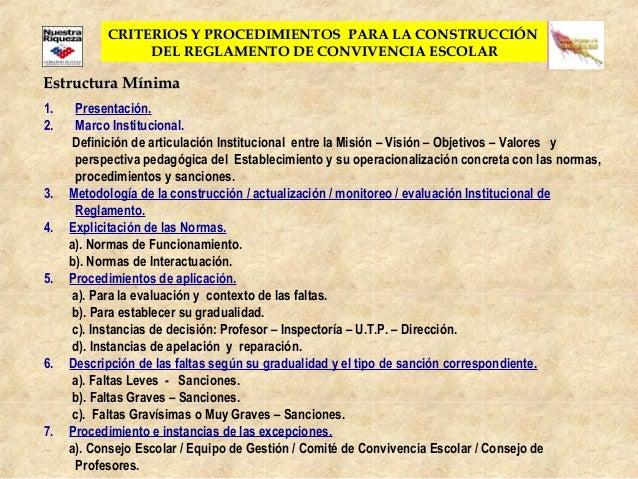 CRITERIOS Y PROCEDIMIENTOS PARA LA CONSTRUCCIÓNCRITERIOS Y PROCEDIMIENTOS PARA LA CONSTRUCCIÓNDEL REGLAMENTO DE CONVIVENCI...