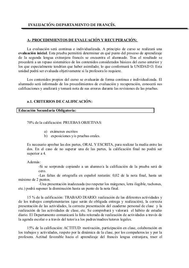 Criterios francés