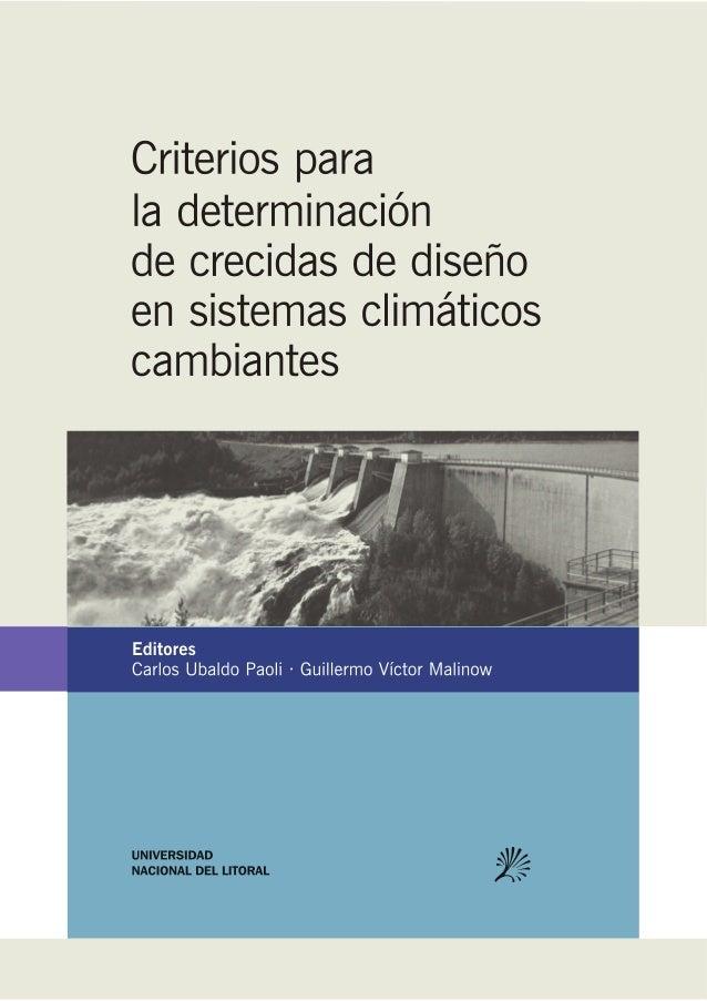 """PUBLICACIÓN DE TRABAJOS DEL TALLER """"Criterios para la determinación de crecidas de diseño en sistemas climáticos cambiante..."""